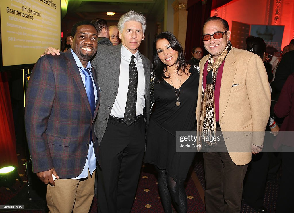 Mike Warner of Egami, Robert Dominguez, Lucinda Martinez and Ralph Paniagua attend the HBO Latino NYC Premiere of 'Santana: De Corazon' at Hudson Theatre on April 16, 2014 in New York City.