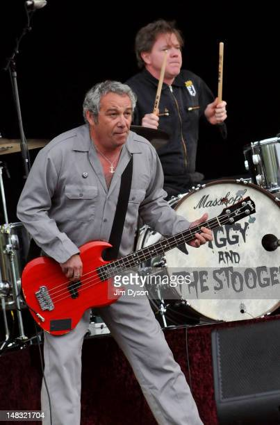 Mike Watt and Toby Dammit of The Stooges perform live on stage during the first day of Hard Rock Calling at Hyde Park on July 13 2012 in London...