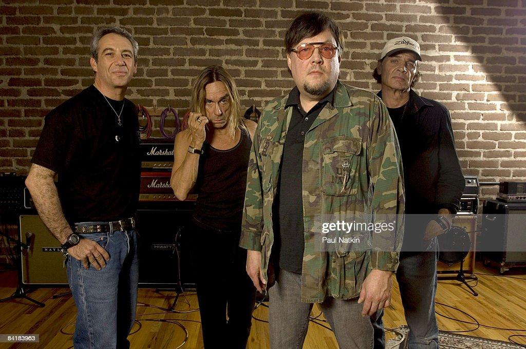 Mike Watt, Iggy Pop, Ron Asheton and Scott Asheton of the Stooges