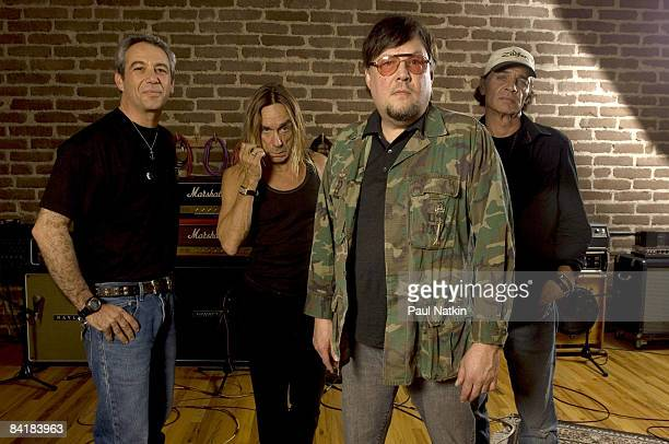 Mike Watt Iggy Pop Ron Asheton and Scott Asheton of the Stooges