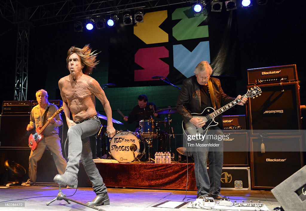 Mike Watt, Iggy Pop, Scott Asheton, and James Williamsonof Iggy and the Stooges perform as part of C2SV Music Festival Day Three at St. James Park on on September 28, 2013 in San Jose, California.