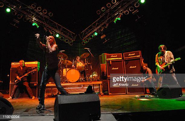 Mike Watt Iggy Pop Scott Asheton and Ron Asheton of Iggy and the Stooges perform during the Vegoose Music Festival on October 27 2007 at Sam Boyd...