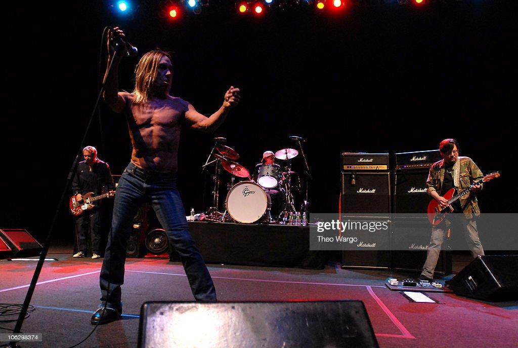 Mike Watt, Iggy Pop, Scott Asheton and Ron Asheton of The Stooges