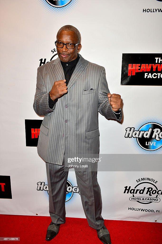 Mike Weaver attends Saturday Fight Night World Heavyweight Champions Fight Night at Hard Rock Live in the Seminole Hard Rock Hotel Casino on...