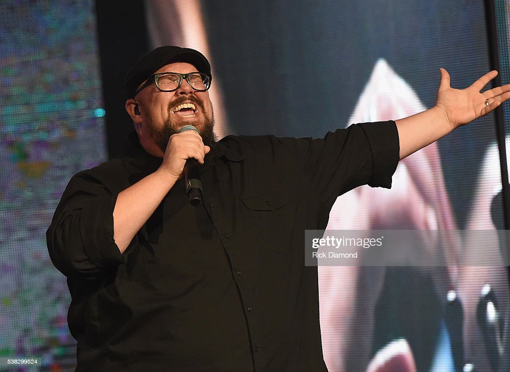 Mike Weaver from the band Big Daddy Weave live onstage at the 4th Annual KLOVE Fan Awards at The Grand Ole Opry House on June 5 2016 in Nashville...