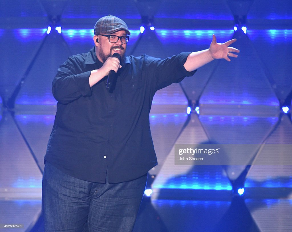Mike Weaver of the musical group Big Daddy Weave performs onstage during the 46th Annual GMA Dove Awards at Allen Arena Lipscomb University on...