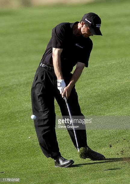 Mike Weir hits an approach shot on the 11th hole during 44th Bob Hope Chrysler Classic Final Round at Arnold Palmer Private Course at PGA West in La...