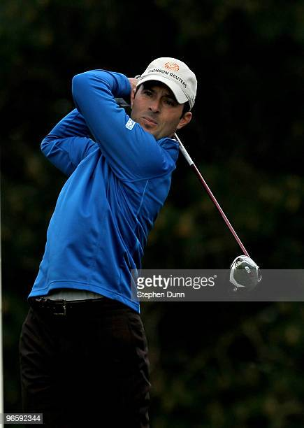 Mike Weir of Canada hits his tee shot on the second hole during the first round of the ATT Pebble Beach National ProAm at Pebble Beach Golf Links on...