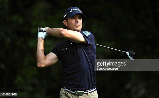 Mike Weir of Canada hits off the third tee during the second round of the Valspar Championship at Innisbrook Resort Copperhead Course on March 11...