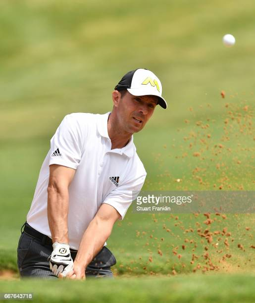 Mike Weir of Canada plays a shot during the pro am prior to the Trophee Hassan II at Royal Golf Dar Es Salam on April 12 2017 in Rabat Morocco
