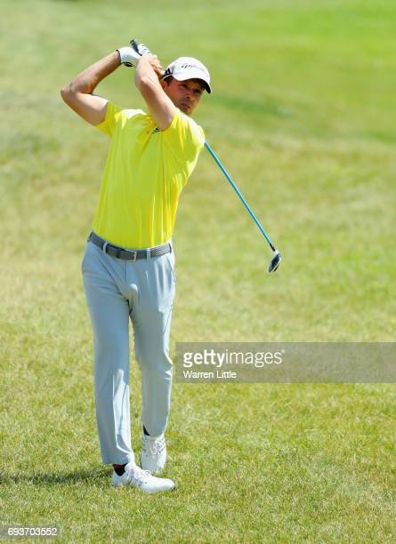 Mike Weir of Canada plays his second shot on the 15th hole during day one of the Lyoness Open at Diamond Country Club on June 8 2017 in Atzenbrugg...