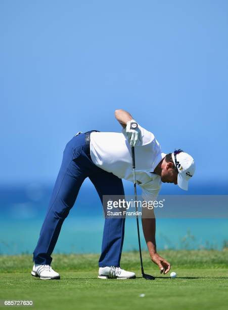 Mike Weir of Canada prepares to tee off during day three of The Rocco Forte Open at Verdura Golf and Spa Resort on May 20 2017 in Sciacca Italy