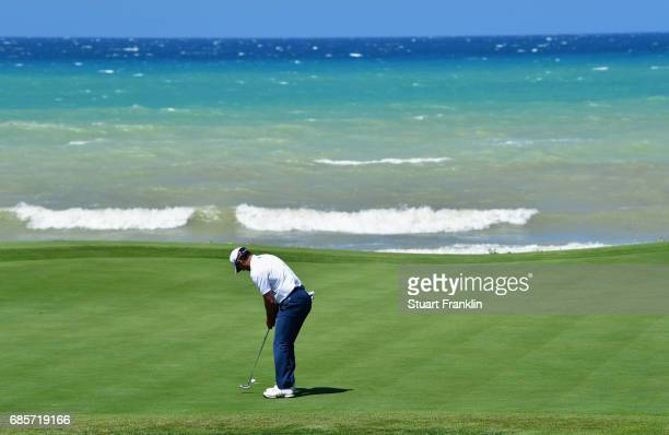 Mike Weir of Canada putts during day three of The Rocco Forte Open at Verdura Golf and Spa Resort on May 20 2017 in Sciacca Italy