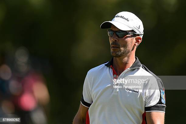 Mike Weir of Canada walks during round two of the 2016 RBC Canadian Open at Glen Abbey Golf Course on July 22 2016 in Oakville Ontario Canada