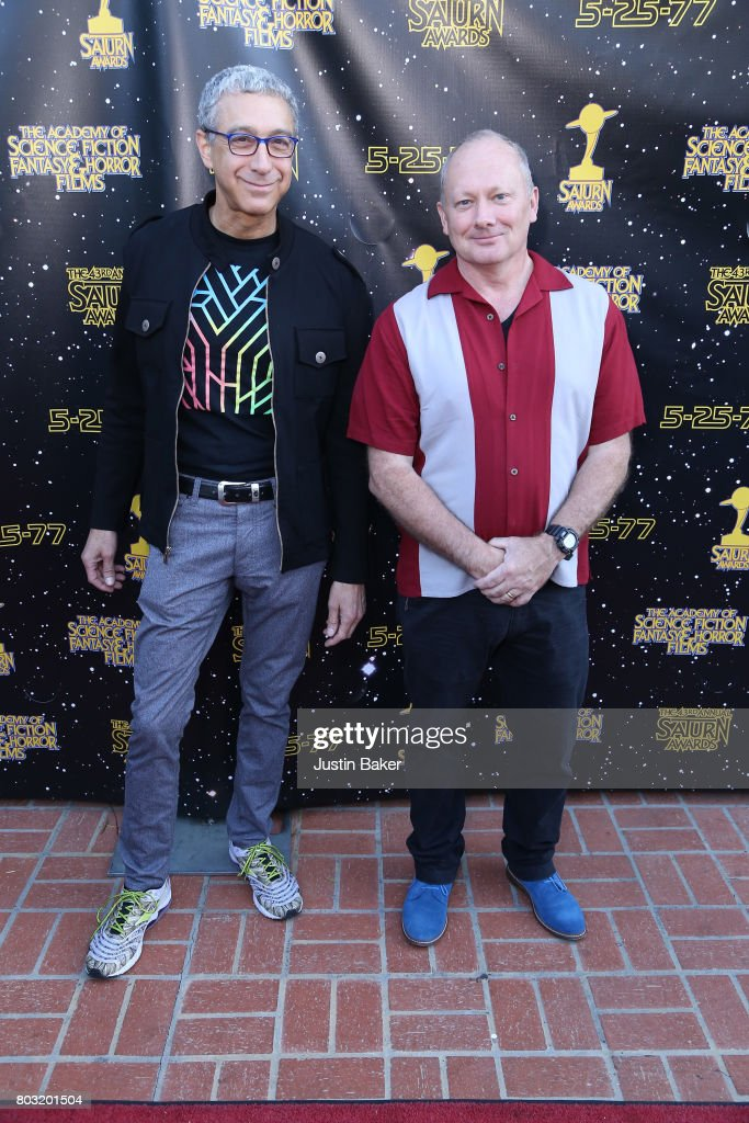 Mike Werb and Michael Colleary attend the 43rd Annual Saturn Awards at The Castaway on June 28, 2017 in Burbank, California.
