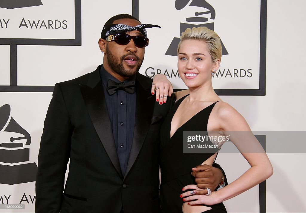 Mike Will Made It and Miley Cyrus attend The 57th Annual GRAMMY Awards at the STAPLES Center on February 8, 2015 in Los Angeles, California.