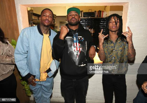 YG Mike Will Made It and Swae Lee of Rae Sremmurd attend Mike Will Made It celebrates his birthday and the release of 'Ransom 2' at a DTS PlayFi Dine...