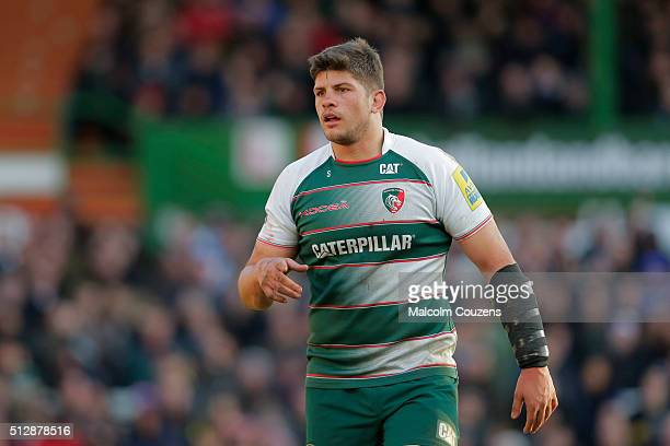 Mike Williams of Leicester Tigers looks on during the Aviva Premiership match between Leicester Tigers and London Irish at Welford Road stadium on...