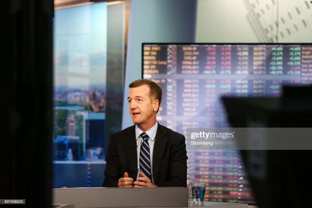 Mike Wilson, chief U.S. equity strategist at Morgan Stanley & Co., speaks during a Bloomberg Television interview in New York, U.S., on Tuesday, Aug. 22, 2017. Wilson discussed growing calls for caution in the markets and his thoughts on investing. Photographer: Christopher Goodney/Bloomberg via Getty Images