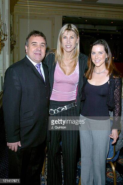 Mike Winter Sharron Davies and Maeve Mulcaly during Champion Children of the Year 2004 at The Millennium Club in London Great Britain