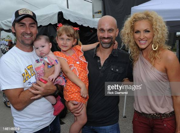 Mike Wolfe from TV's American Pickers Stephen Schlapman and Kimberly Schlapman LBT at the 6th Annual TJ Martell Foundation Ride For The Cure starting...