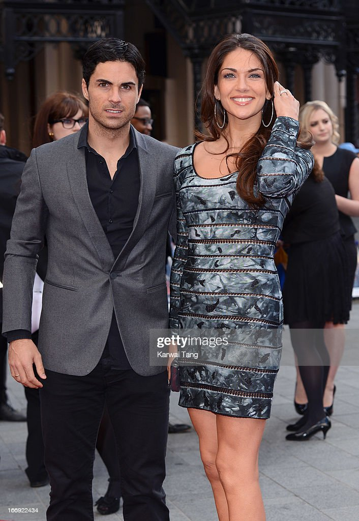 Mikel Arteta attends a special screening of 'Iron Man 3' at Odeon Leicester Square on April 18, 2013 in London, England.