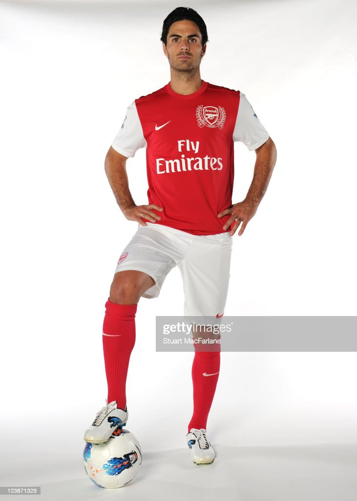 Mikel Arteta signs for Arsenal at London Colney on September 05, 2011 in St Albans, England.