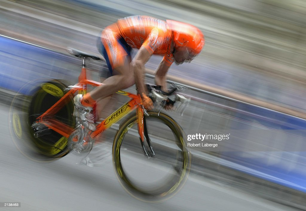 Mikel Artetxe of Spain rider for the EuskaltelEuskadi Team races his bicycle during the 65 kilometer prologue in the streets of Paris of the Tour de...