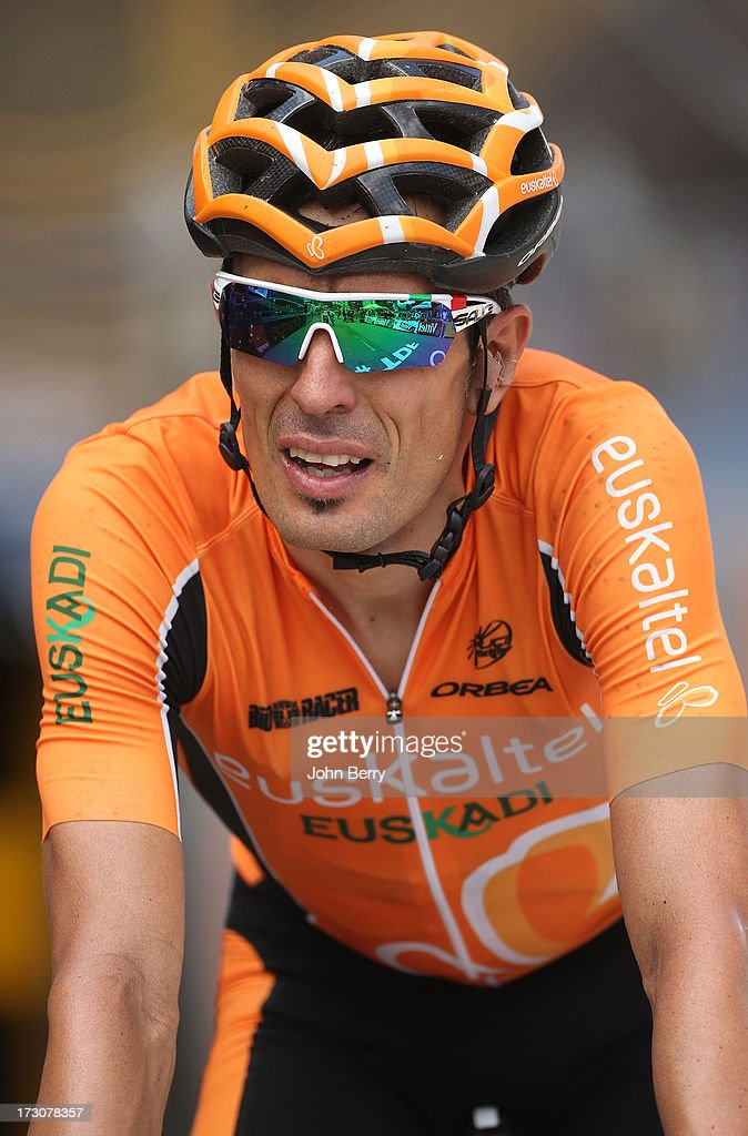 Mikel Astarloza of Spain and Team EuskaltelEuskadi finishes Stage Eight of the Tour de France 2013 the 100th Tour de France a 195 km road stage from...