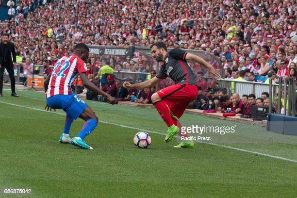 Mikel Balenziaga try to evade Thomas Partey during the football match between Atletico de Madrid and Athletic de Bilbao Atletico de Madrid win over...