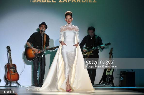 Mikel Erentxun performs during Isabel Zapardiez bridal collection at the Barcelona Bridal Week 2013 on May 2 2013 in Barcelona Spain