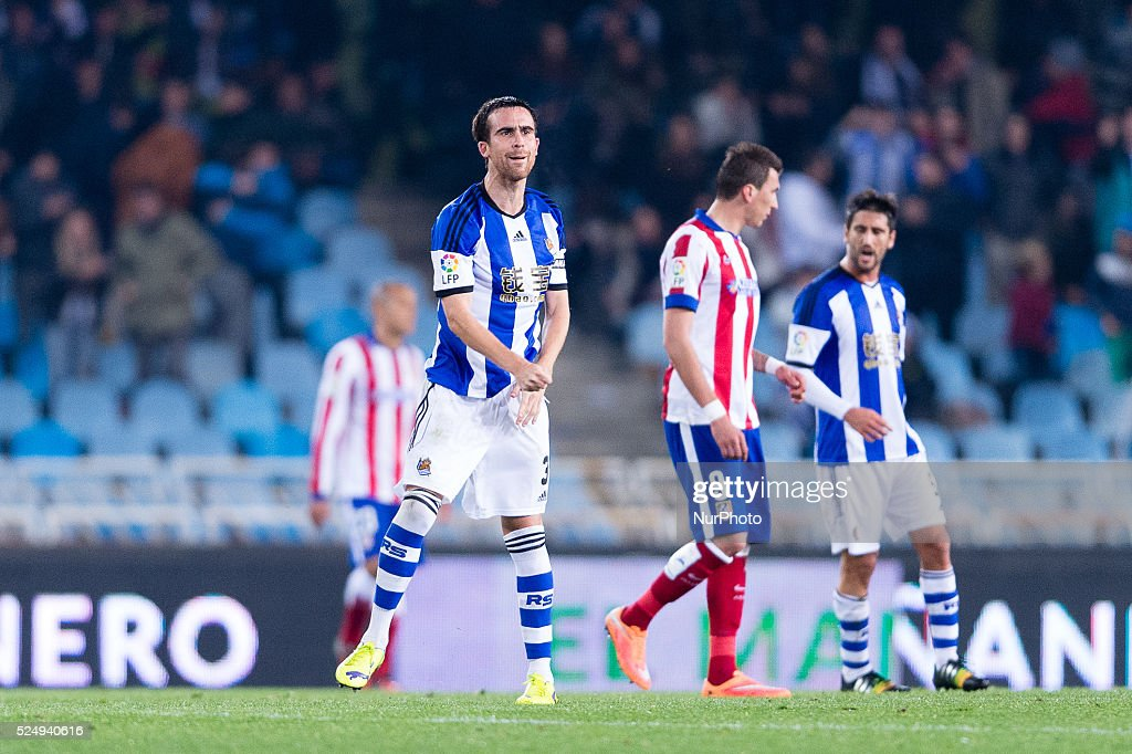 Mikel Gonzalez in the match between Real Sociedad and Atletico Madrid for Week 11 of the spanish Liga BBVA played at the Anoeta stadium November 9...
