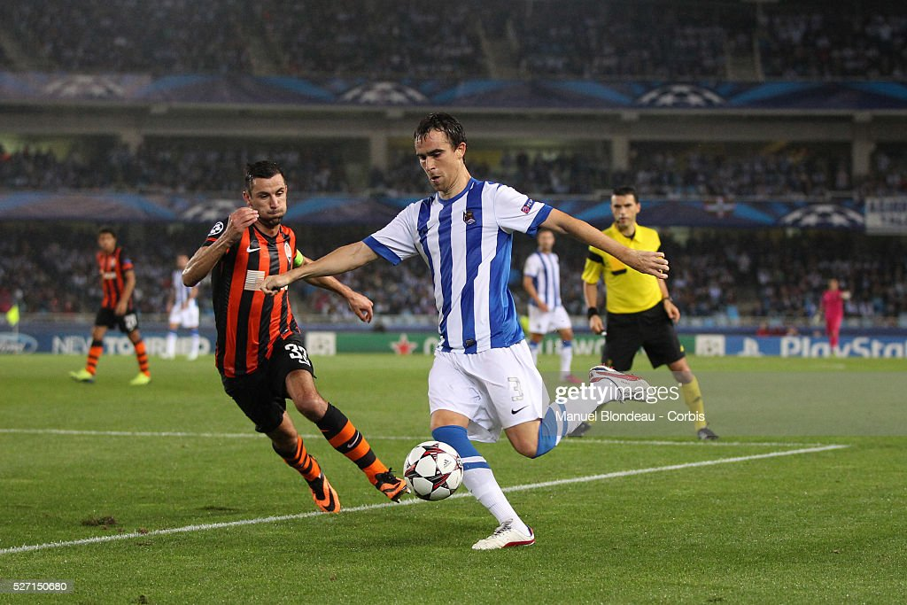 Mikel Gonzalez of Real Sociedad during the UEFA Champions league football match between Real Sociedad and FC Shakhtar Donetsk at the Anoeta stadium...