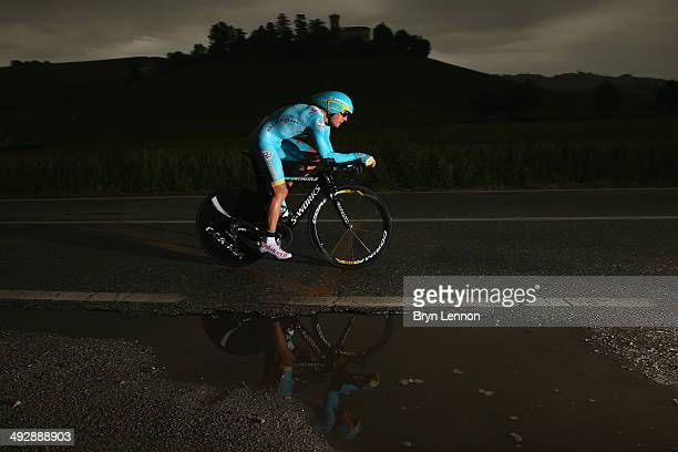 Mikel Landa of Spain and Astana in action during the twelfth stage of the 2014 Giro d'Italia a 42km Individual Time Trial stage between Barbarasco...