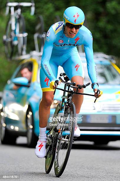 Mikel Landa of Spain and Astana Pro Team in action during Stage Six of Vuelta al Pais Vasco on April 12 2014 in Markina Spain