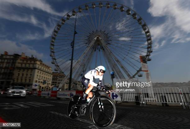 Mikel Landa of Spain and Team Sky in action during stage twenty of Le Tour de France 2017 on July 22 2017 in Marseille France