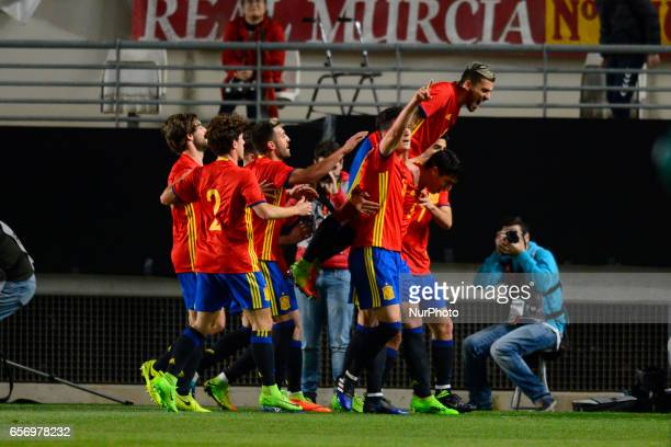 Mikel Merino during the friendly match of national teams U21 of Spain vs Denmark in stadium Nueva Condomina Murcia SPAIN March 23rd 2017