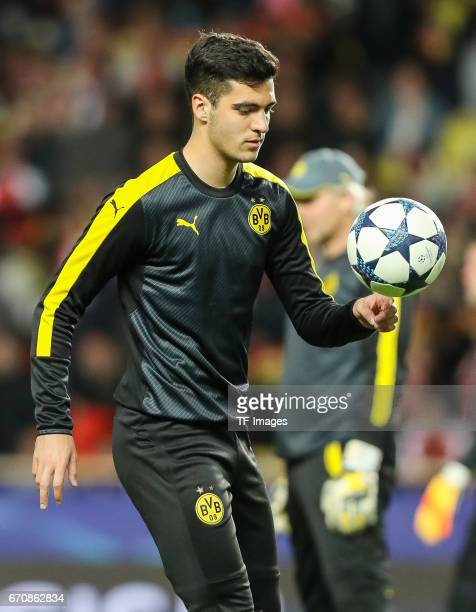 Mikel Merino of Dortmund controls the ball during the UEFA Champions League quarter final second leg match between AS Monaco and Borussia Dortmund of...