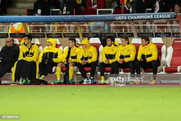 Mikel Merino of Dortmund Gonzalo Castro of Dortmund Raphael Guerreiro of Dortmund Felix Passlack of Dortmund Nuri Sahin of Dortmund Sven Bender of...