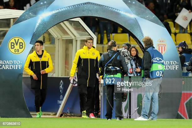Mikel Merino of Dortmund Sven Bender of Dortmund looks on prior the UEFA Champions League quarter final second leg match between AS Monaco and...