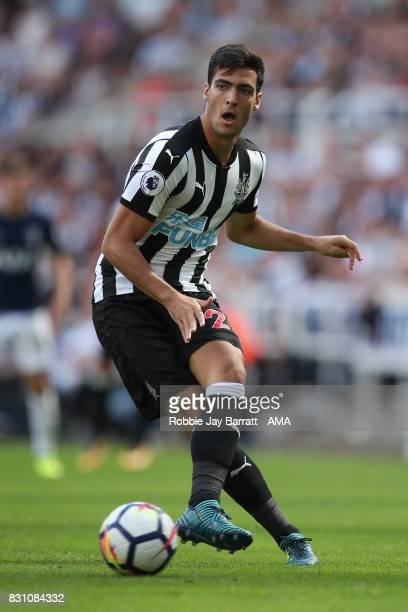Mikel Merino of Newcastle United during the Premier League match between Newcastle United and Tottenham Hotspur at St James Park on August 13 2017 in...