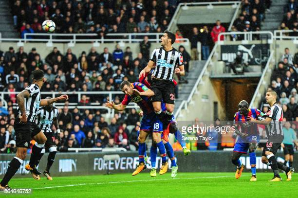 Mikel Merino of Newcastle United scores the only goal during the Premier League match between Newcastle United and Crystal Palace at StJames' Park on...