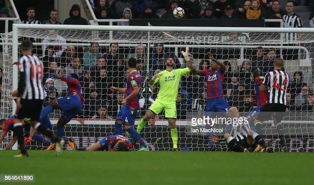Mikel Merino of Newcastle United scores the onoy goal of the game during the Premier League match between Newcastle United and Crystal Palace at St...