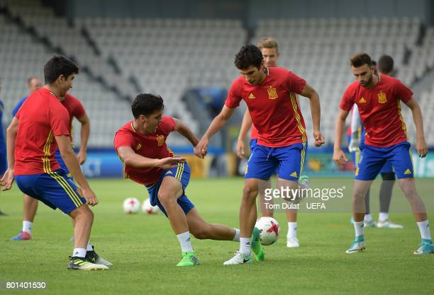 Mikel Merino of Spain during a training session on June 26 2017 in Krakow Poland