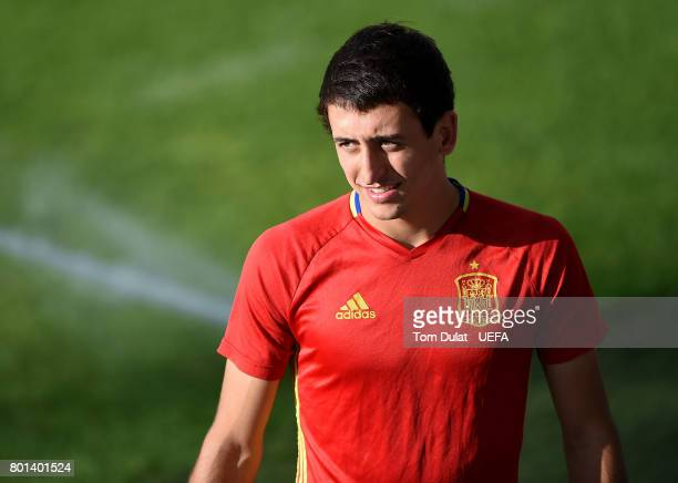 Mikel Oyarzabal of Spain during a training session on June 26 2017 in Krakow Poland