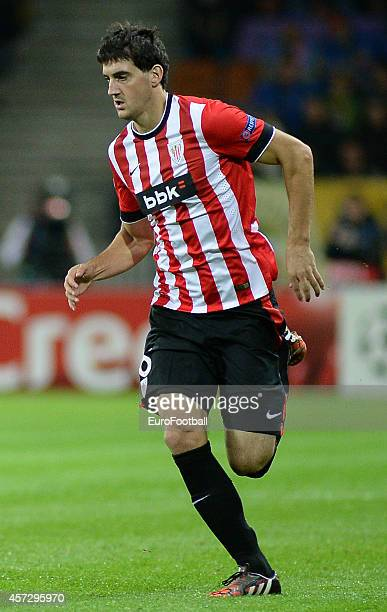 Mikel San Jose of Athletic Club in action during the UEFA Champions League Group H match between Bate Borisov and Athletic Bilbao at the Borisov...