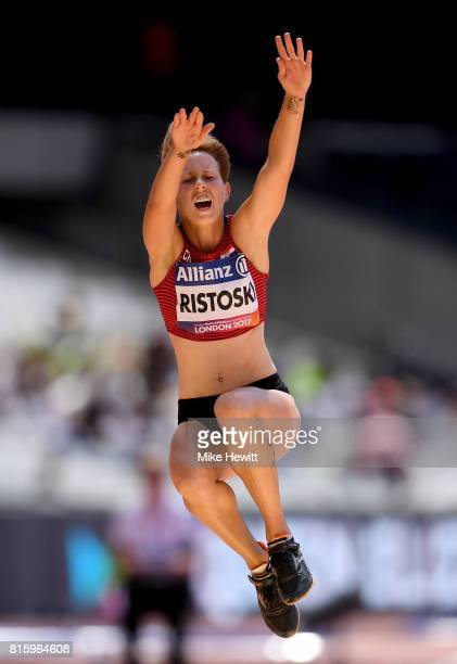 Mikela Ristoski of Croatia competes in the Women's Long Jump T20 Final during day four of the IPC World ParaAthletics Championships 2017 at the...