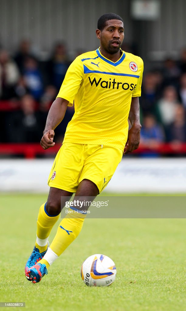 Mikele Leigertwood of Reading in action during a pre season friendly match between AFC Wimbledon and Reading at the Kingsmeadow Stadium on July 14, 2012 in Kingston, England.