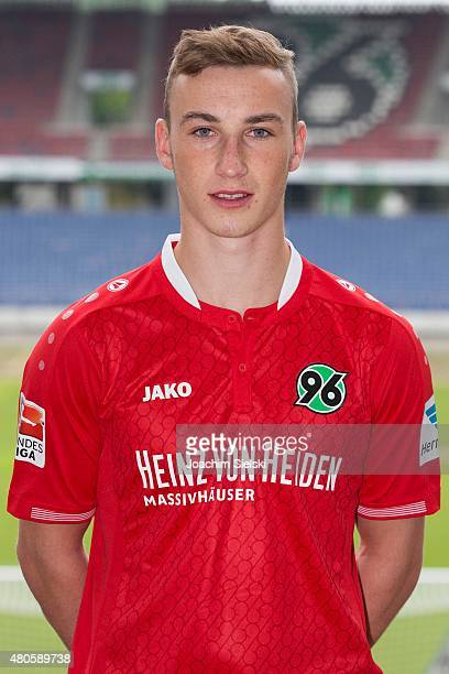 MikeSteven Baehre poses during a team presentation for Hannover 96 at HDIArena on July 13 2015 in Hanover Germany
