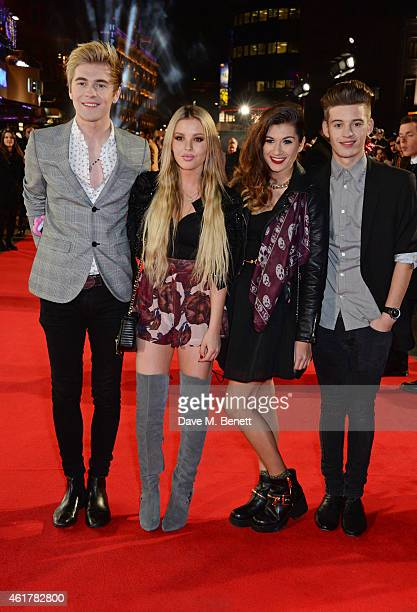 Mikey Bromley BetsyBlue English Parisa Tarjomani and Charlie George of Only The Young attend the UK Premiere of 'Mortdecai' at Empire Leicester...